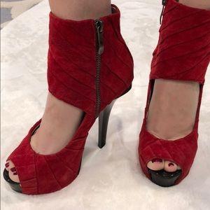 Bebe red high heels